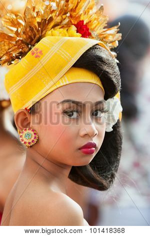 Face Portrait Of Balinese Dancer Girl