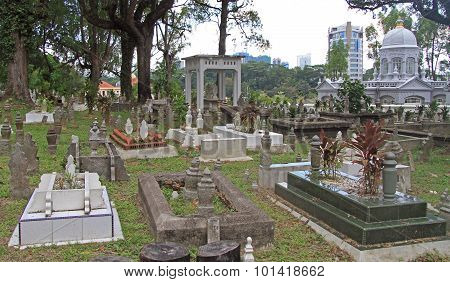 urban muslim cemetary in Johor Bahru