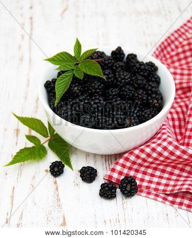 Bowl With Blackberries
