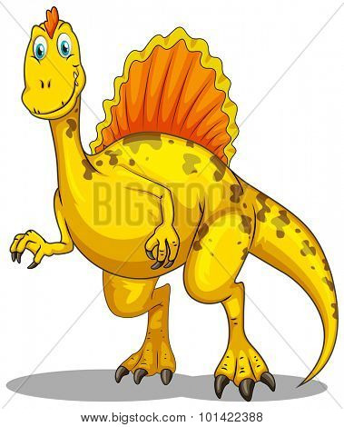Dinosaur with spikes on the back illustration