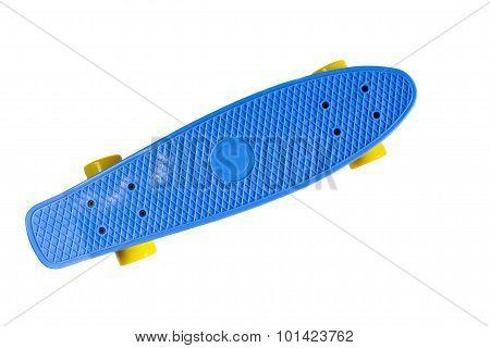 Plastic skateboard isolated on white