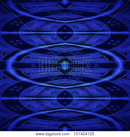 Seamless ellipses pattern blue black