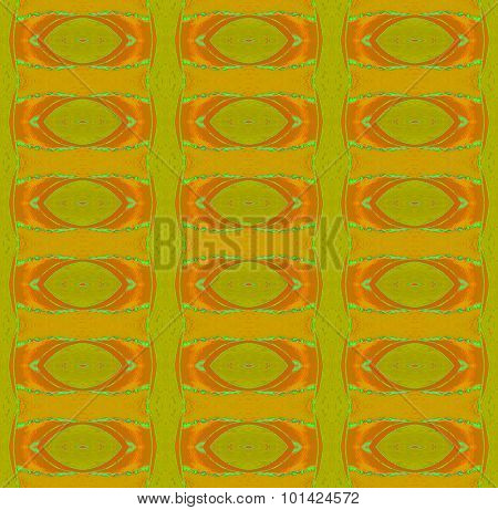 Seamless ellipses pattern green ocher brown