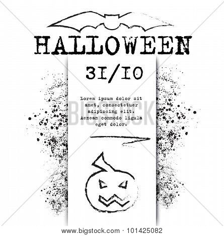 template Halloween invitation for print or website.