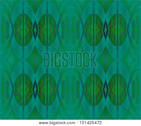 Seamless ellipses pattern dark green