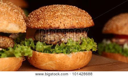 Big Burgers With Cutlet