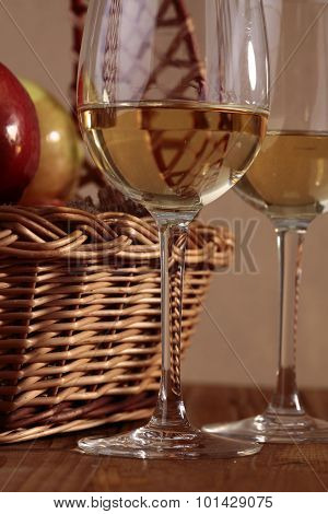Two Glasses With Basket