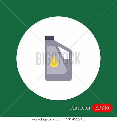 Plastic bottle of engine oil