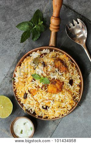 Fish Biryani with raita