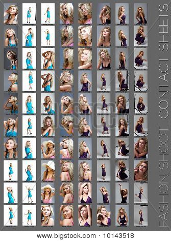 Fashion Shoot Contact Sheet .