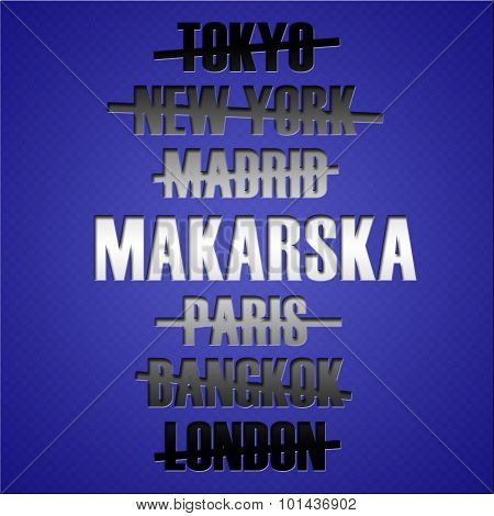 Famous Travel Destination Places. Tourism Concept.