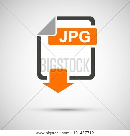 Jpg file download on a gray background
