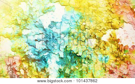 abstract color Backgrounds, painting collage with spots, rust structure and crackle.