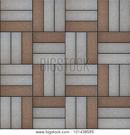 Gray and Brown Paving of Geometric Shapes.