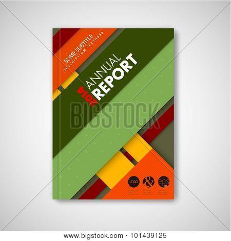 Modern Vector abstract brochure / book / flyer design template, material design version