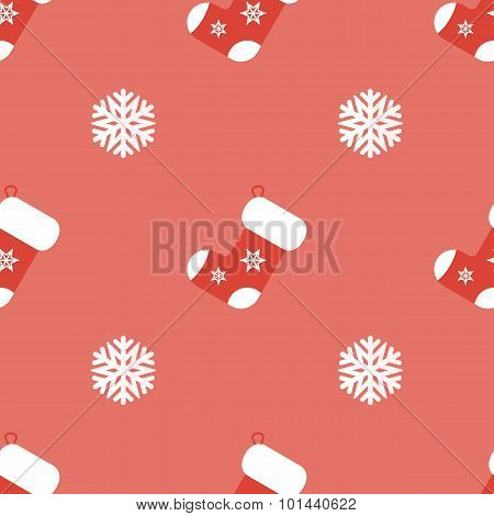 Christmas background in flat style