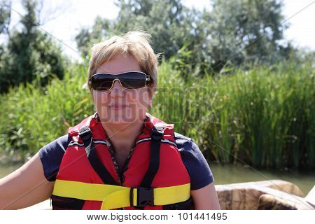 Senior Woman In Boat