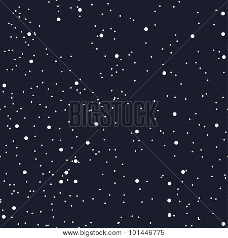 Night seamless pattern for textile or paper as the starry night sky. The space of the cosmos. The da