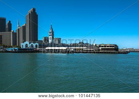 Embarcadero and skyline of San Francisco