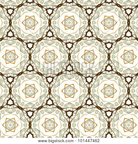 Primitive  Brown Retro Seamless Pattern