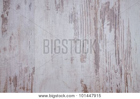 Texture With Worn White Color On Wood