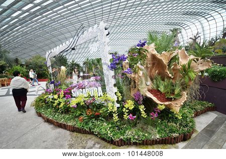 Flower Dome At Gardens By The Bay In Singapore