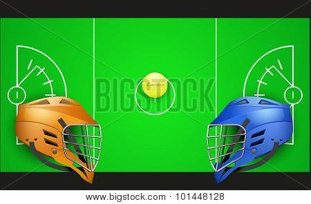 Background of competition in lacrosse teams