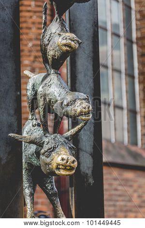 Sculpture Of The Town Musicians Of Bremen