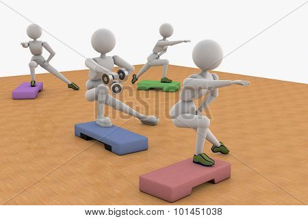 Man And  Woman, Aerobic Exercise