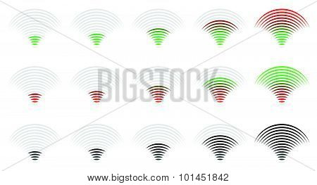 Signal Strength, Progress, Level Indicator, Vector Illustration.