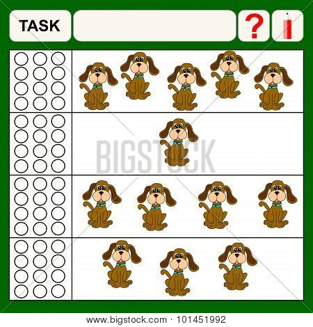 Task find right answer preschool or school exercise task for kids