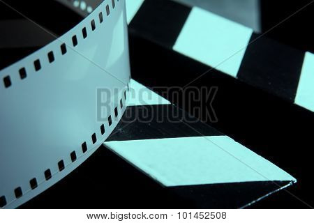 Photographic Film. Movie Clapper For Shooting Films