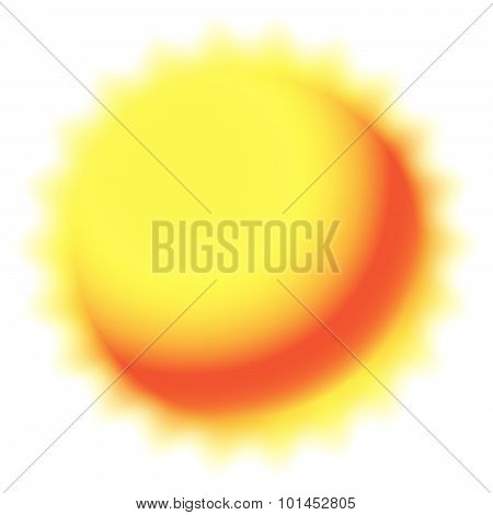 Sun Isolated On White. Weather, Meteorology, Summer.
