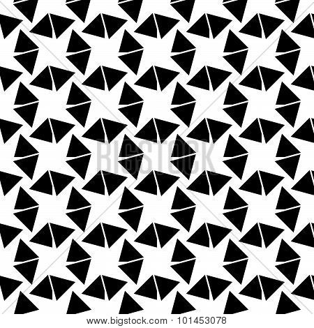 Abstract Vector Pattern With Triangles. Repeatable Swatch.