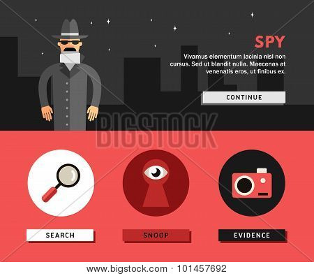 Profession Concept. Spy
