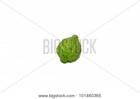 Isolated Shot Of Single Bergamot On White Background