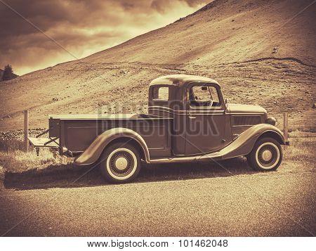 Sepia Vintage Truck