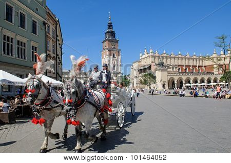 Ancient Market Square In Krakow