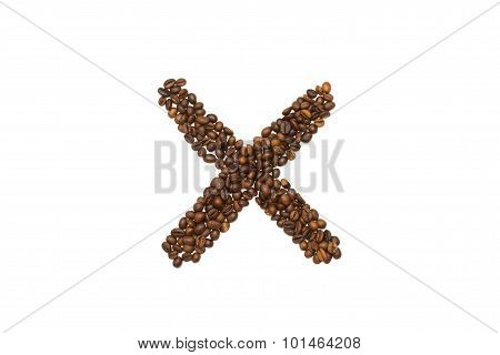 Letter X Of Coffee Beans