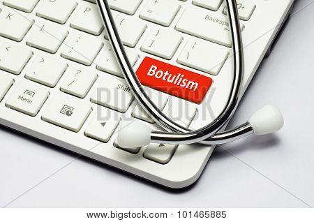Keyboard, Botulism Text And Stethoscope