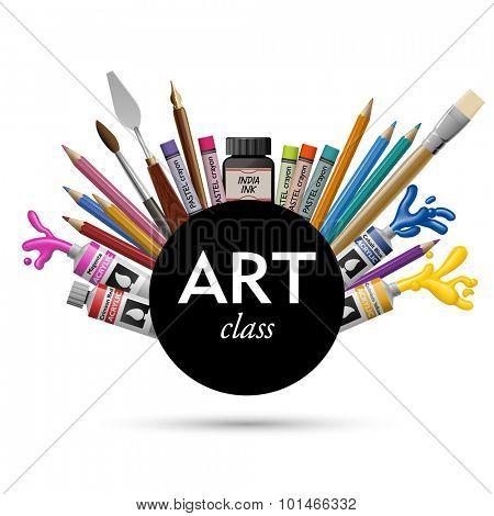 Art class, eps10 vector