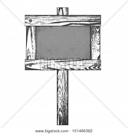 Wooden signpost