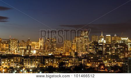San Francisco Skyline From South Of Market