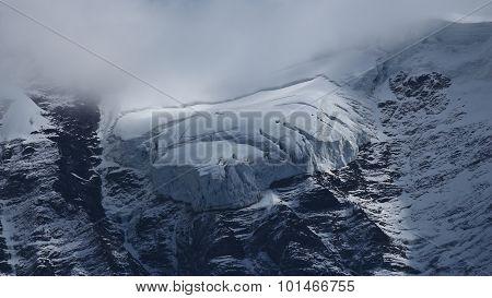 Glacier Tongue On The Jungfraujoch