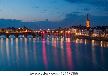 Maastricht by night, The Netherlands