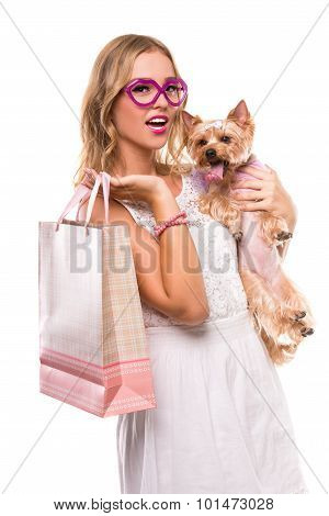 Woman With Dog.