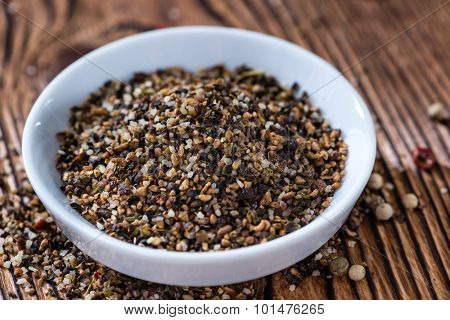 Small Bowl With Crushed Peppercorns