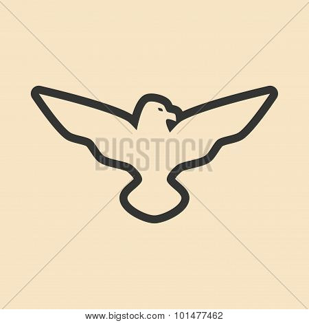 Flat in black and white mobile application eagle