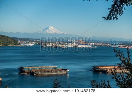 Mount Rainier And Port 2