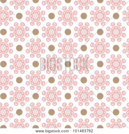 Delicate lovely  seamless pattern